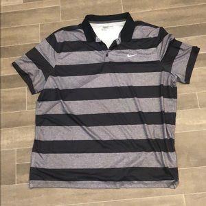 Men's Nike black and grey golf shirt